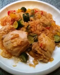 Cajun style chicken gumbo