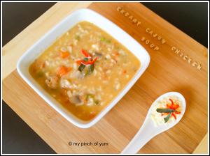 Cajun chucken pasta soup 1